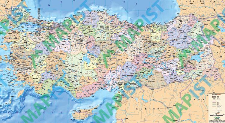 Türkiye-Siyasi-Haritası